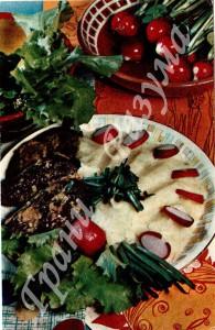 Картофель с печенкой (второе блюдо)