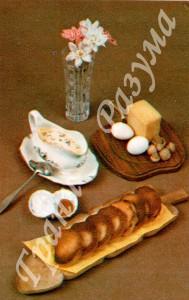Гренки с соусом из шампиньонов (закуска)