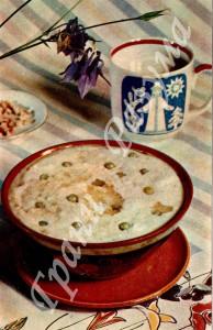 Суп с овсяной крупой (первое блюдо)