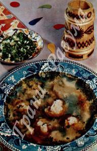 Бульон с цветной капустой (первое блюдо)