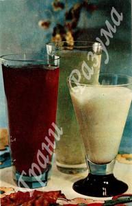 Кисель ягодный и молочный (десерты)