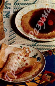 Блинчики с вареньем (десерт)