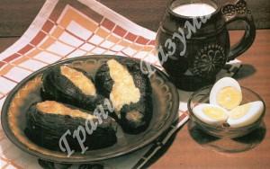 Баклажаны фаршированные сыром (закуски)