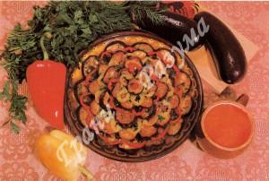 Салат из баклажанов и помидоров (закуски)