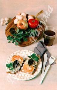 Бутерброды с шампиньонами (закуска)