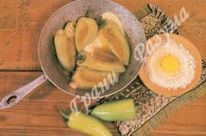 Перец фаршированный брынзой и яйцами (второе блюдо)