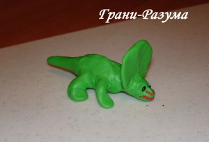 Лепка из пластилина: Урок 5 (Динозавр)