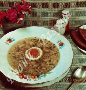 Суп картофельный с налимом (первое блюдо)